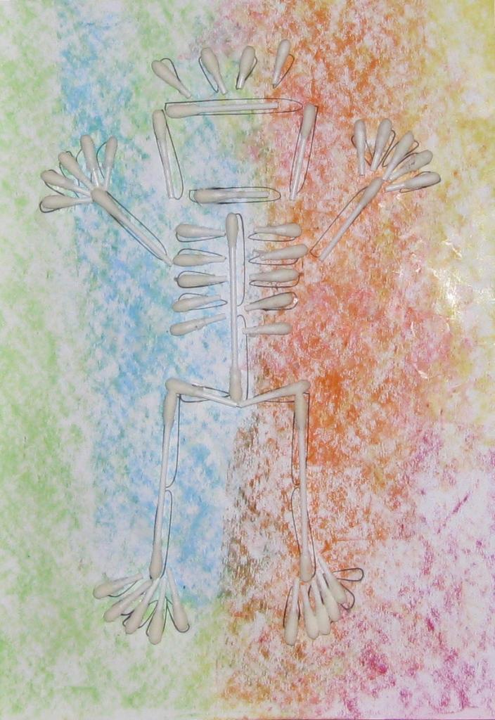 Поделка скелет человека