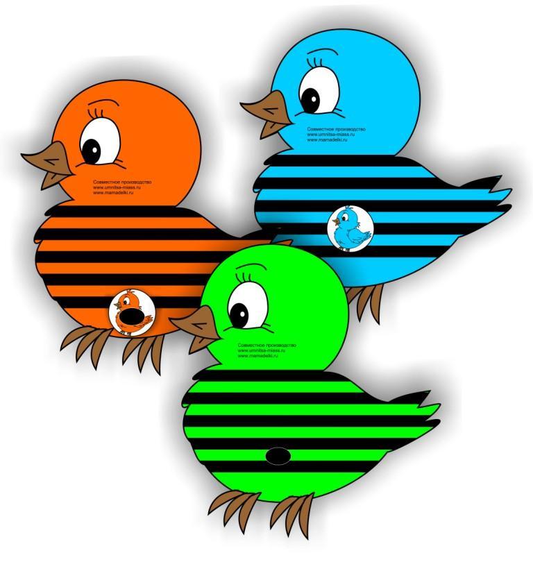 Нотки птички мамы и малыши